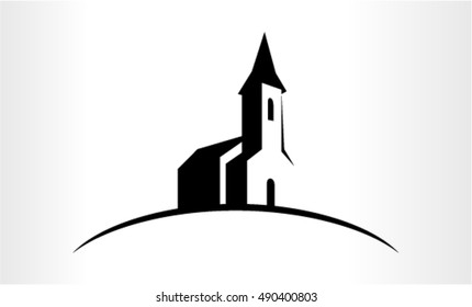 Vector logo Illustration of a Church