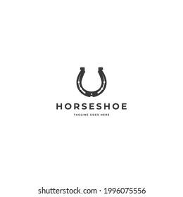 Vector logo illustration for horseshoe