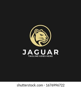 Vector Logo Illustration Jaguar Head Vintage Badge Style.