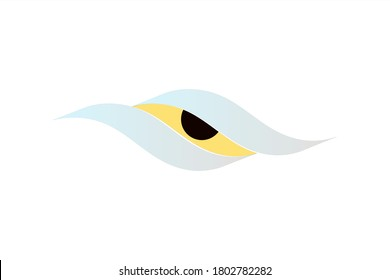 Vector logo with illustration of waves  form an eye with sharp eyesight. Usable for general business logos