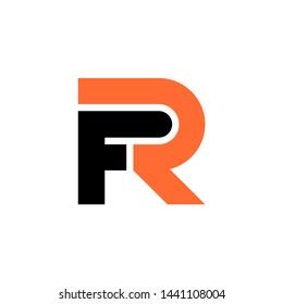 vector logo image letter FR