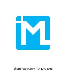 vector logo image letter M