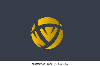 Vector Logo initials NW