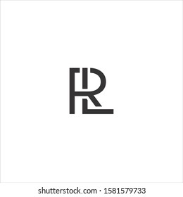 """vector logo with the initials """"RL"""""""