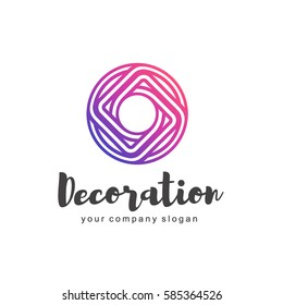 Vector logo for interior, furniture shops, decor items and home decoration.