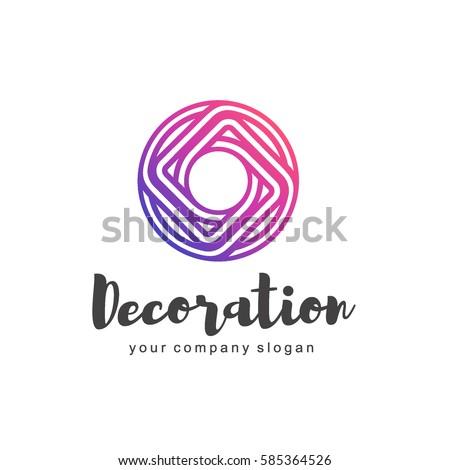 Vector Logo Interior Furniture Shops Decor Stock Vector Royalty