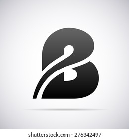 Vector logo for letter B design template