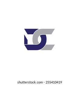 Vector logo with letter D and letter C