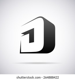 Vector logo for letter D design template