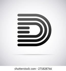 Vector logo for letter D design template
