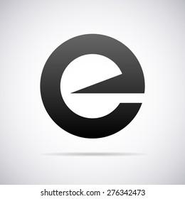 Vector logo for letter e design template