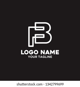 vector logo letter f and b