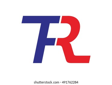 vector logo of letter f and r