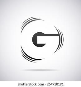 Vector logo for letter G design template