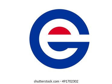 vector logo of letter G and E
