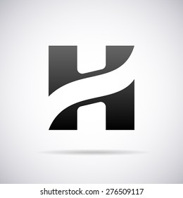 Vector logo for letter H design template