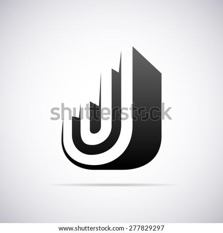 vector logo for letter j design template