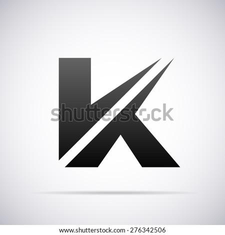vector logo letter k design template のベクター画像素材