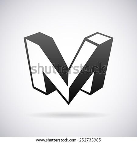 vector logo letter m design template のベクター画像素材