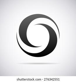 Vector logo for letter O design template