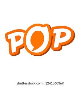 Vector Logo of letter POP.