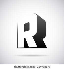 Vector logo for letter R design template