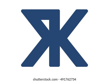 vector logo of letter R and K