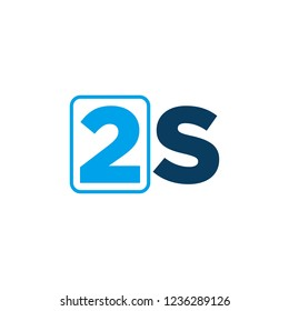 Vector Logo of letter s and number 2.
