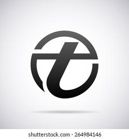 Vector logo for letter t design template
