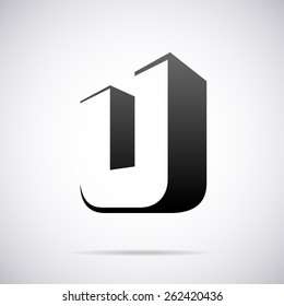 Vector logo for letter U design template