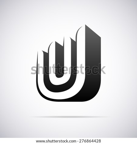 Vector Logo Letter U Design Template Stock Vector Royalty Free
