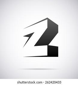 Vector logo for letter Z design template