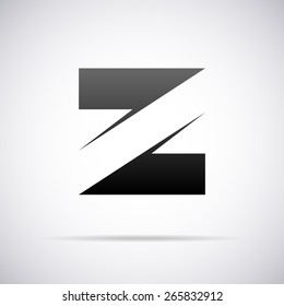 Vector logo for letter Z design template