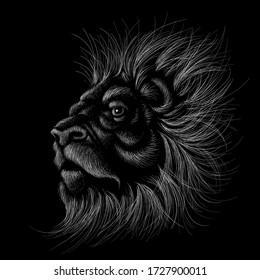 Lion Head On Black White Wallpaper Images Stock Photos Vectors Shutterstock