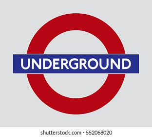 Vector logo of the London Underground - editorial image