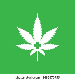 vector logo of medical concept of cannabis
