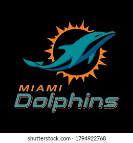 vector logo miami dolphins american football