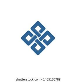 vector logo of a modern letter P