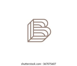 Vector logo in a modern style. The stylized letter B
