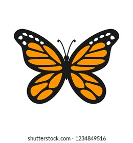 Vector Logo of Monarch Butterfly.
