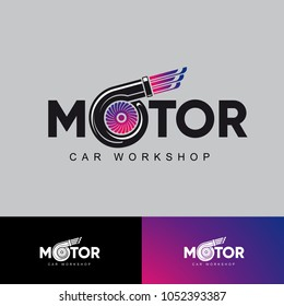 Vector logo motor car workshop