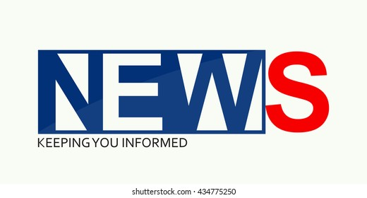 Vector of logo news symbol or icon, inscription of news