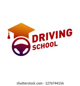 vector logo on the theme of driving school, car