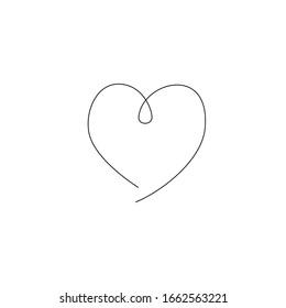 vector logo one line heart