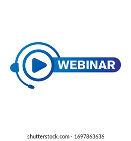 vector logo for online webinar, web conference