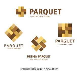 Vector logo parquet, laminate, flooring, tiles