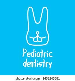 Vector logo for pediatric dentistry, dentistry for children
