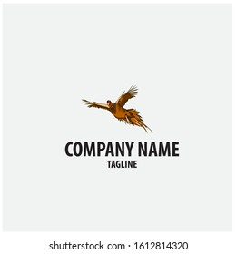 vector logo with pheasant design elements. Can be used for hunting companies.