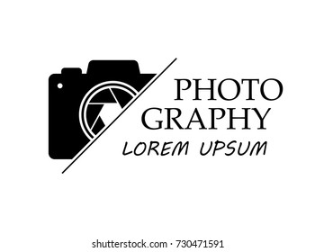 Vector logo for photographer. Logo template photography studio or photographer.
