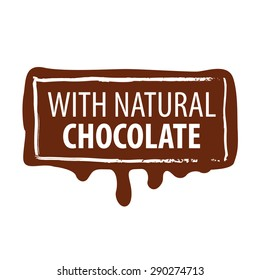 vector logo printing for natural chocolate